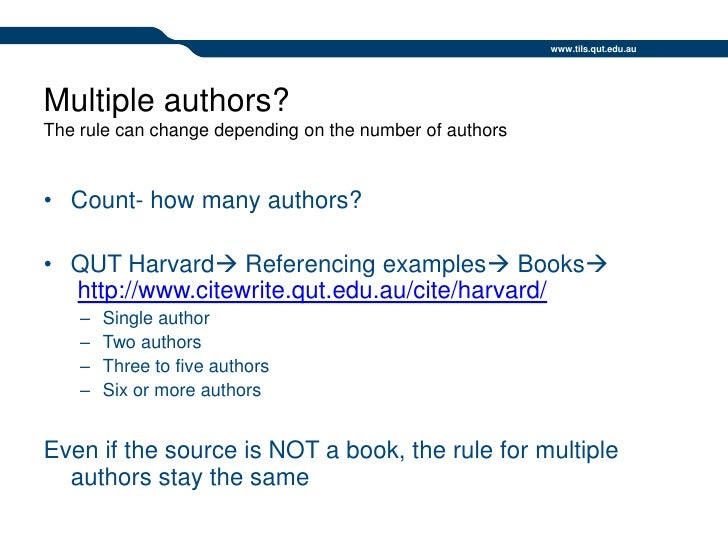 Qut harvard referencing dec09 ppt lr author 37 ccuart Choice Image