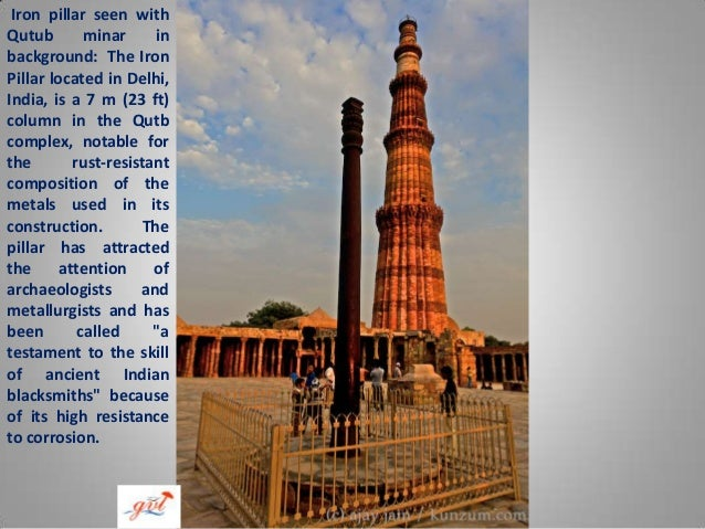 Qutub Minar Iron Pillar Inscriptions Qutub minar of india
