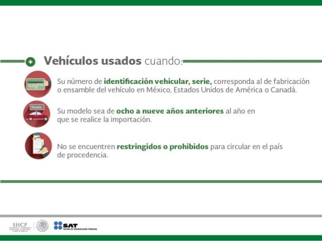 ¿Qué vehículos pueden importarse? Slide 2
