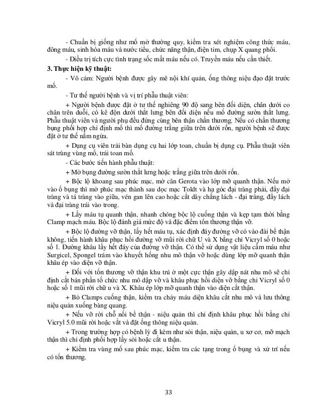 36 PHẪU THUẬT HỞ LẤY SỎI THẬN SỎI NIỆU QUẢN + KẾT HỢP NỘI SOI MỀM ĐỂ LẤY TOÀN BỘ SỎI I. ĐẠI CƯƠNG Sỏi thận niệu quản là bệ...