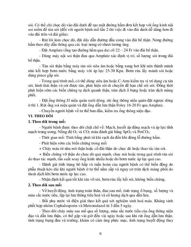 9 QUY TRÌNH KỸ THUẬT TÁN SỎI THẬN QUA DA ĐƯỜNG HẦM NHỎ BẰNG MÁY TÁN LASER DƯỚI ĐỊNH VỊ SIÊU ÂM HOẶC C.ARM I. ĐẠI CƯƠNG Sỏi...