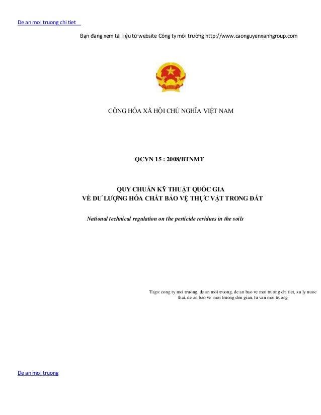 De an moi truong chi tiet                            Bạn đang xem tài liệu từ website Công ty môi trường http://www.caongu...