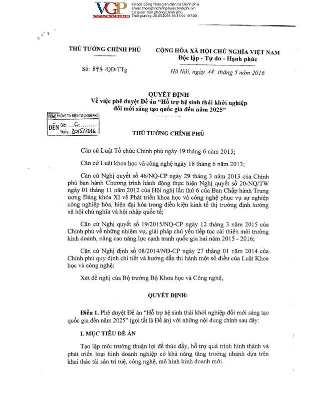 Ký bởi: Cổng Thông tin điện tử Chính phủ Email: thongtinchinhphu@chinhphu.vn Cơ quan: Văn phòng Chính phủ Thời gian ký: 20...