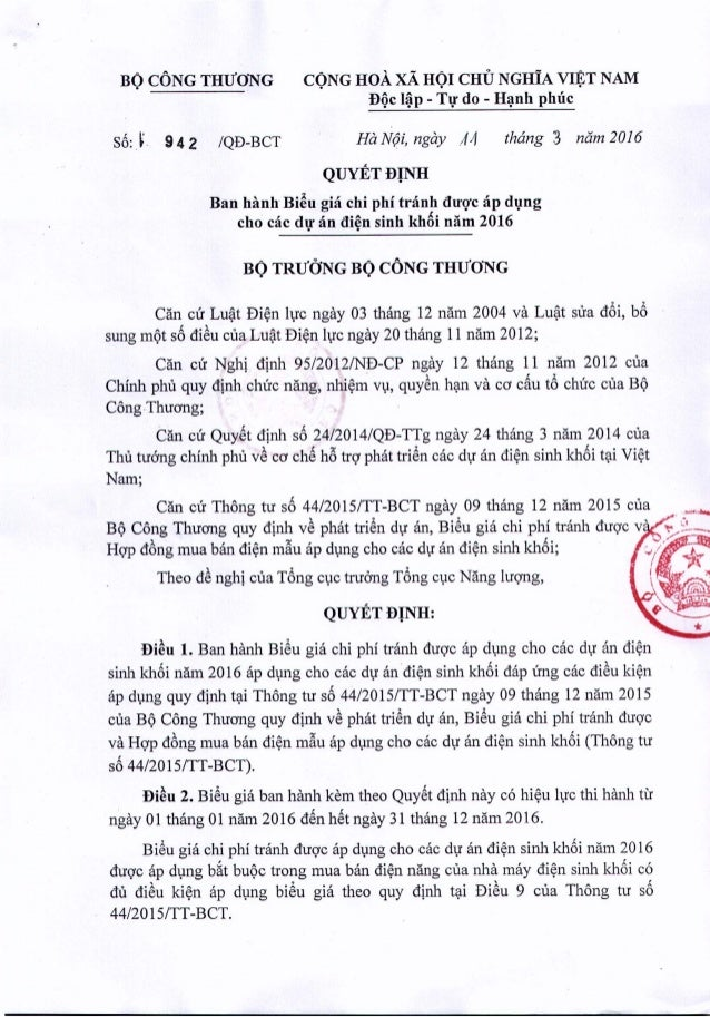 BQCONGTHlJ'ONG CONG HoA xA HOI crru NGHIA VIET NAM. . . B(}cl~p - Tl! do - H~nh phuc S6: L 942 IQD-BCT Ha Noi, ngay;//f th...