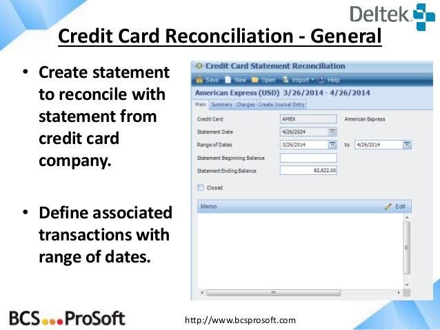 credit card reconciliation template
