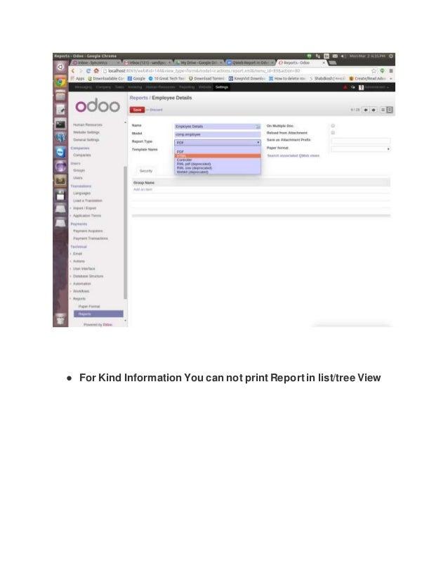QWeb Report in odoo