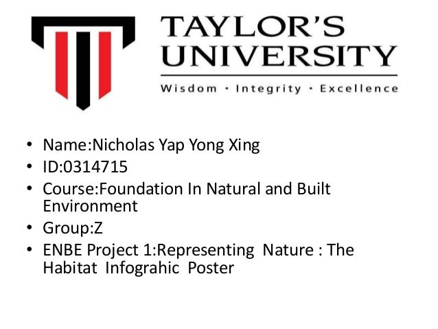 • Name:Nicholas Yap Yong Xing• ID:0314715• Course:Foundation In Natural and BuiltEnvironment• Group:Z• ENBE Project 1:Repr...