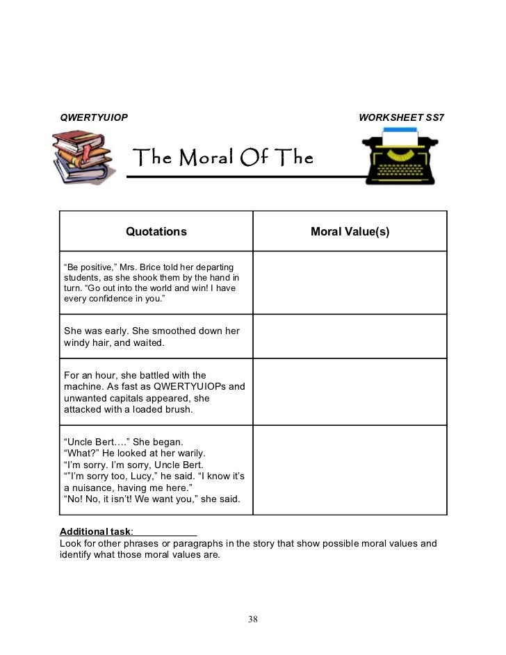 worksheet moral agent Responsibility and accountability responsibility assumes that the actor becomes also a moral agent possessed of a certain level of moral maturity and an ability.