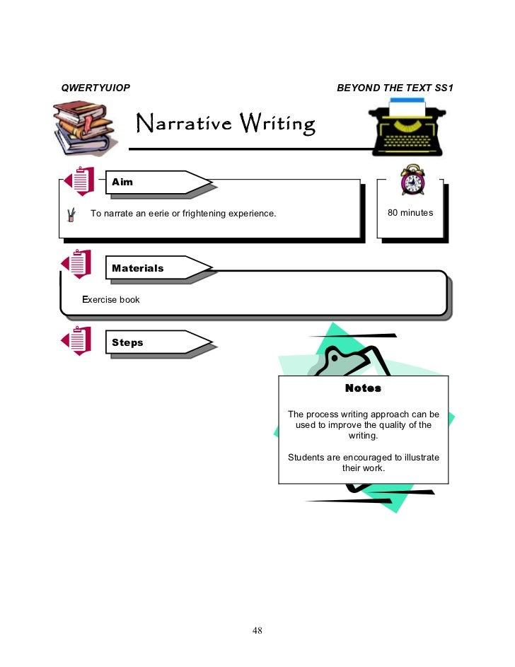 A frightening experience narrative essay