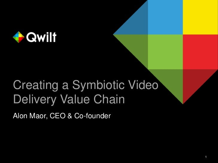 Creating a Symbiotic VideoDelivery Value ChainAlon Maor, CEO & Co-founder                              1