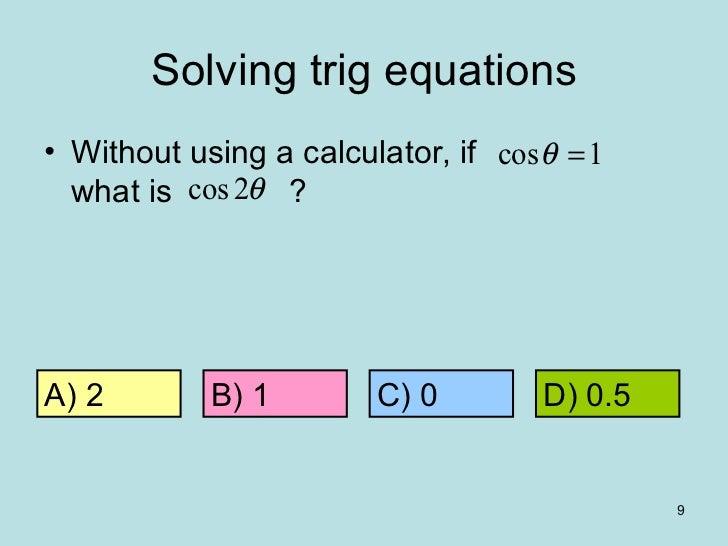 Qwizdom a-level maths - trig equations 1
