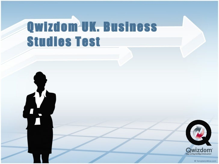 Qwizdom UK. Business Studies Test