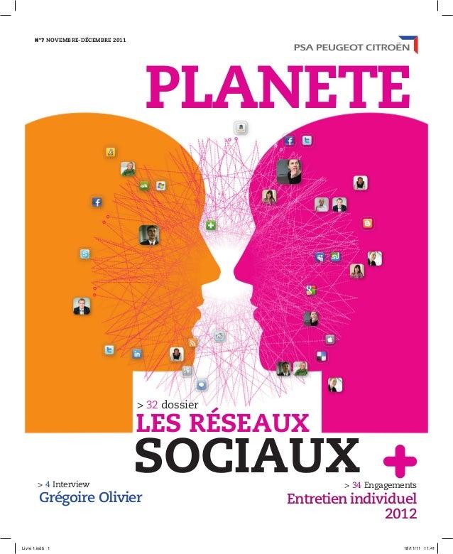 > 34 Engagements Entretien individuel 2012 > 4 Interview Grégoire Olivier Nº7 NOVEMBRE-DÉCEMBRE 2011 > 32 dossier SOCIAUX...