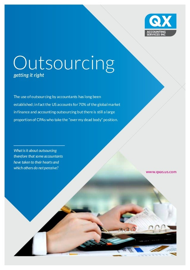 Outsourcinggetting it right www.qxas.us.com What is it about outsourcing therefore that some accountants have taken to the...