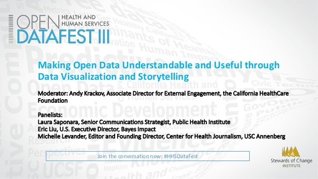 Join the conversation now: #HHSDataFest Making Open Data Understandable and Useful through Data Visualization and Storytel...
