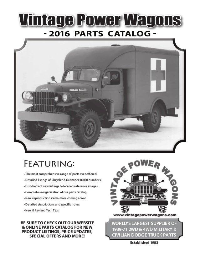 Dodge M37 M43 Engine Camshaft Assembly G741 N.O.S
