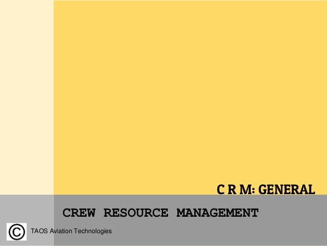 An analysis of the aircraft and crew resource management