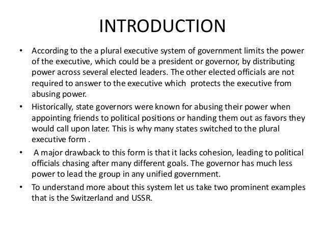 the plural executive