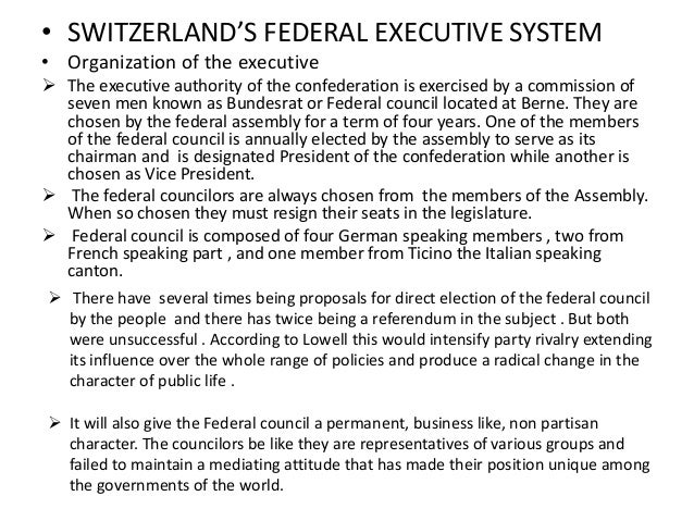 plural executive system