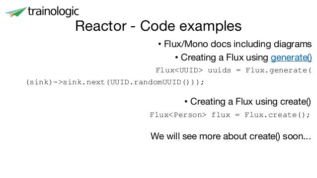Reactive solutions using java 9 and spring reactor