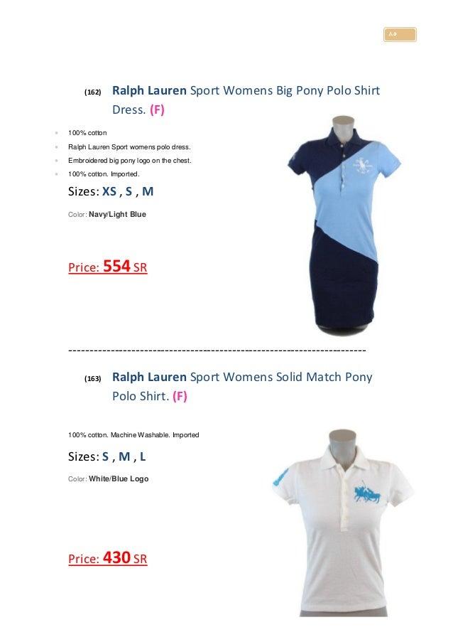 ... 86. 85 (162) Ralph Lauren Sport Womens Big Pony Polo Shirt Dress.