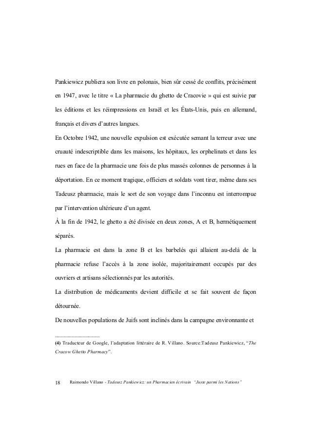 """Raimondo Villano - Tadeusz Pankiewicz: un Pharmacien écrivain """"Juste parmi les Nations"""" 19 arrivent en mauvais état et dan..."""