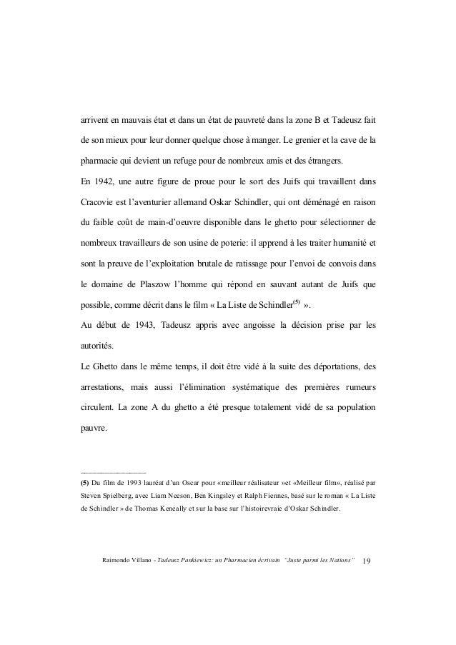 "Raimondo Villano - Tadeusz Pankiewicz: un Pharmacien écrivain ""Juste parmi les Nations""20 Tadeusz continue sa distribution..."