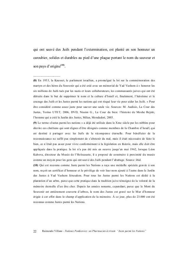 "Raimondo Villano - Tadeusz Pankiewicz: un Pharmacien écrivain ""Juste parmi les Nations"" 23 En avril 1983, en sa présence o..."