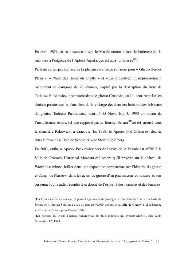 """Raimondo Villano - Tadeusz Pankiewicz: un Pharmacien écrivain """"Juste parmi les Nations""""24 pris dans une tempête fatale(13)..."""