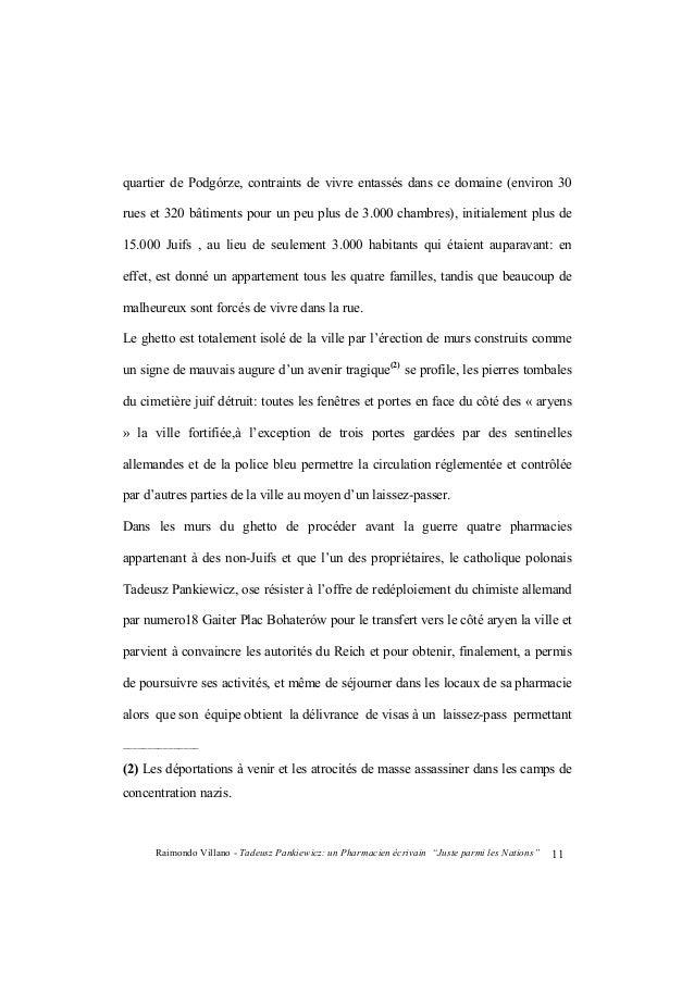 """Raimondo Villano - Tadeusz Pankiewicz: un Pharmacien écrivain """"Juste parmi les Nations""""12 entrant et sortant du ghetto pou..."""