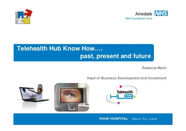 Telehealth Hub Know How…. past, present and future Rebecca Malin Head of Business Development and Investment