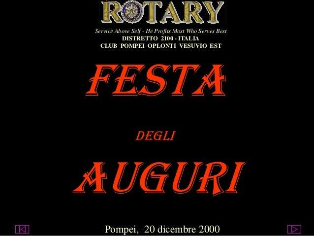 Service Above Self - He Profits Most Who Serves Best DISTRETTO 2100 - ITALIA CLUB POMPEI OPLONTI VESUVIO EST  FESTA DEGLI ...
