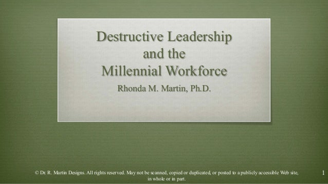 destructive leadership The most prevalent destructive leadership behaviour, followed by supportive–   constructive as well as destructive behaviours, indicating that leadership is not.