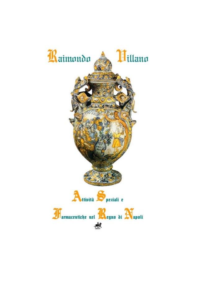 Raimondo Villano – Attività speziali e farmaceutiche nel Regno di Napoli 5