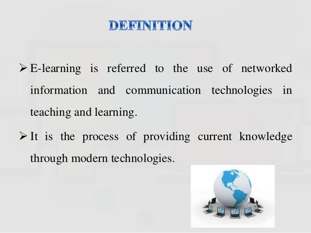 e learning definition