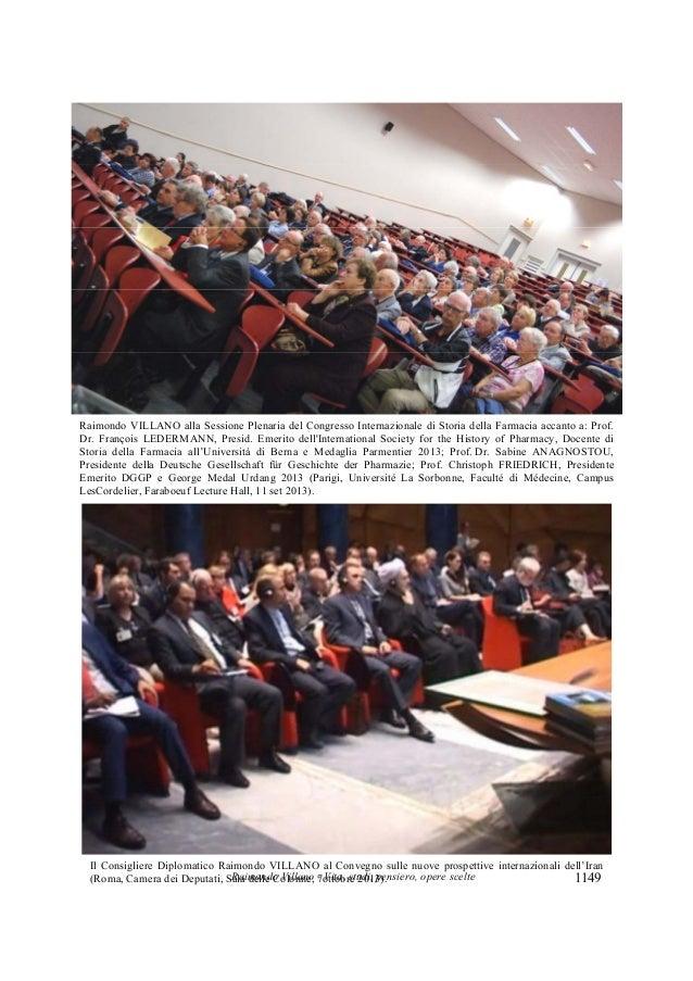 Raimondo Villano - Vita, studi, pensiero, opere scelte 1149 Raimondo VILLANO alla Sessione Plenaria del Congresso Internaz...