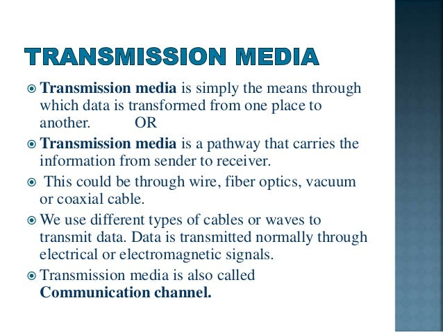 examples of wired media