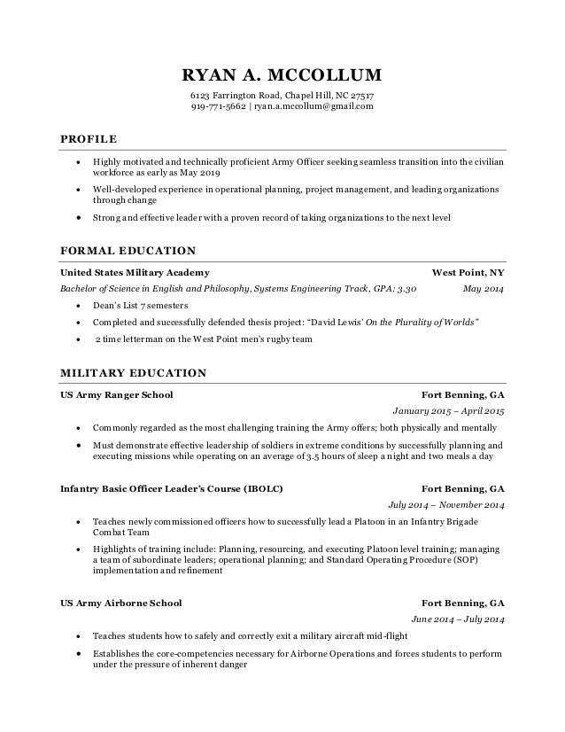 R.A. McCollum resume