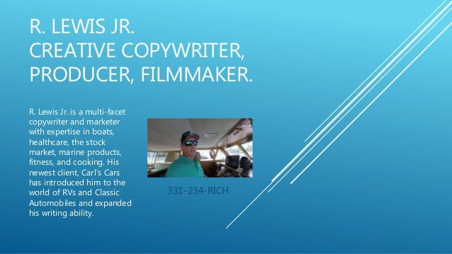 CREATIVE COPYWRITER PRODUCER FILMMAKER