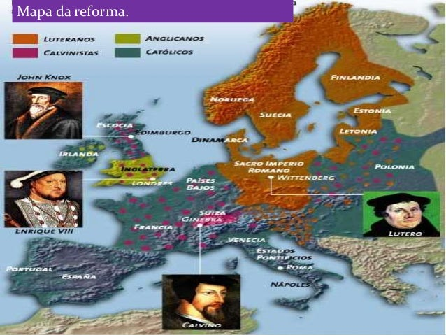 Resultado de imagem para mapa da reforma protestante