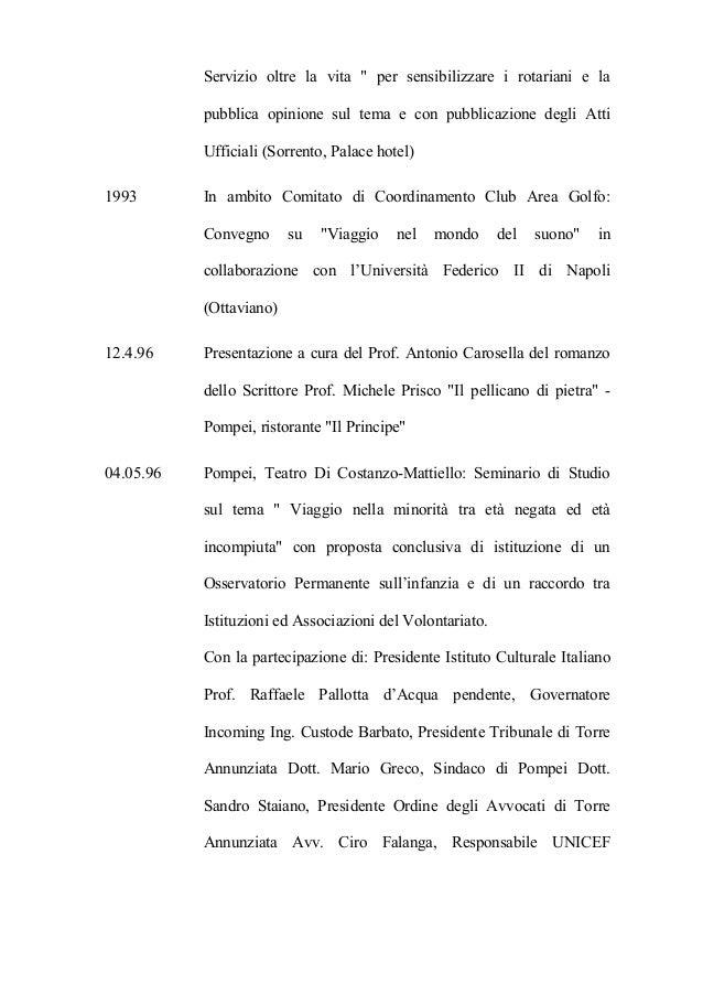 R villano rotary pompei ove vita distrettuale 1987 2001 - La tavola degli ufficiali ...