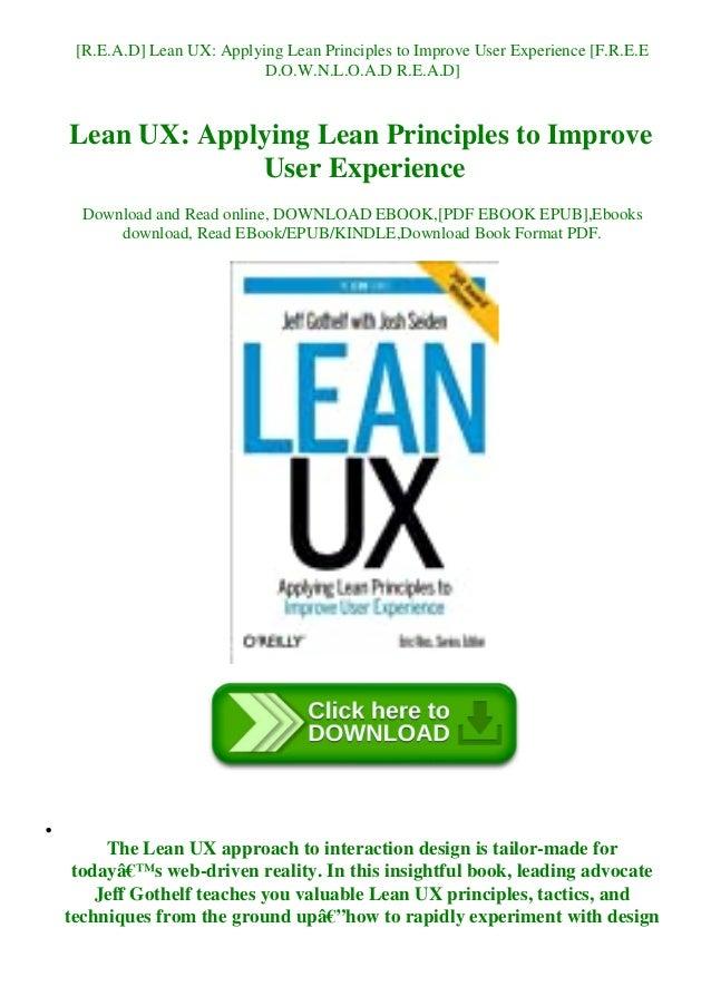Lean UX PDF Free Download