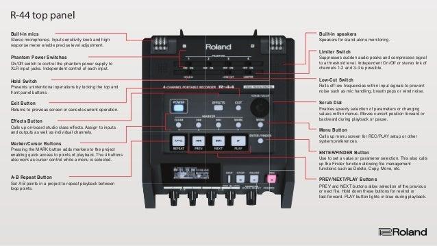 roland r 44 4 channel portable recorder. Black Bedroom Furniture Sets. Home Design Ideas