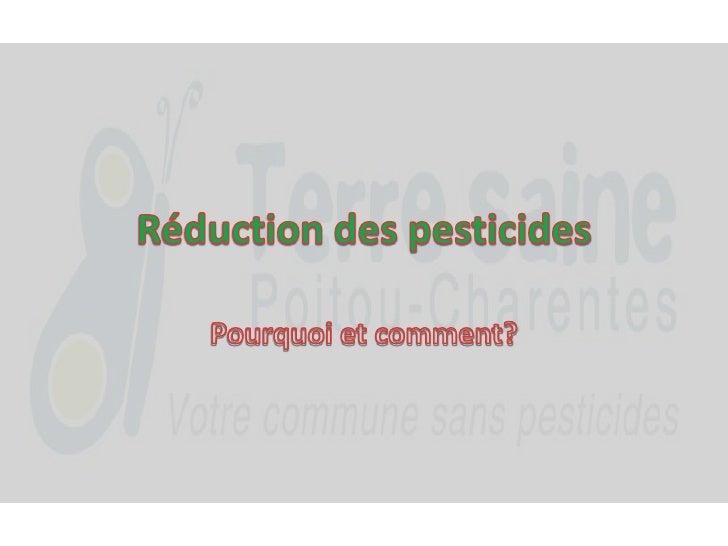 Réduction des pesticides<br />Pourquoi et comment?<br />