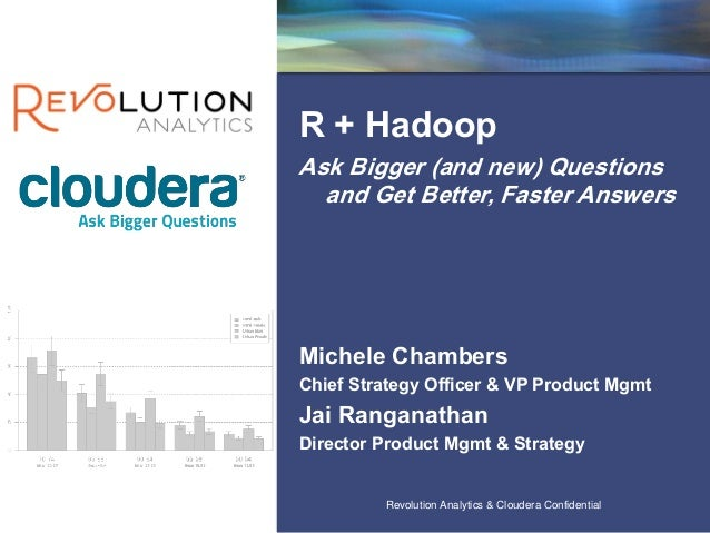 Revolution Confidential Revolution Analytics & Cloudera Confidential R + Hadoop Ask Bigger (and new) Questions and Get Bet...