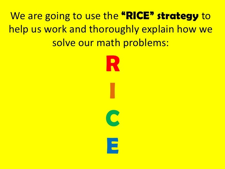 math problems for rice