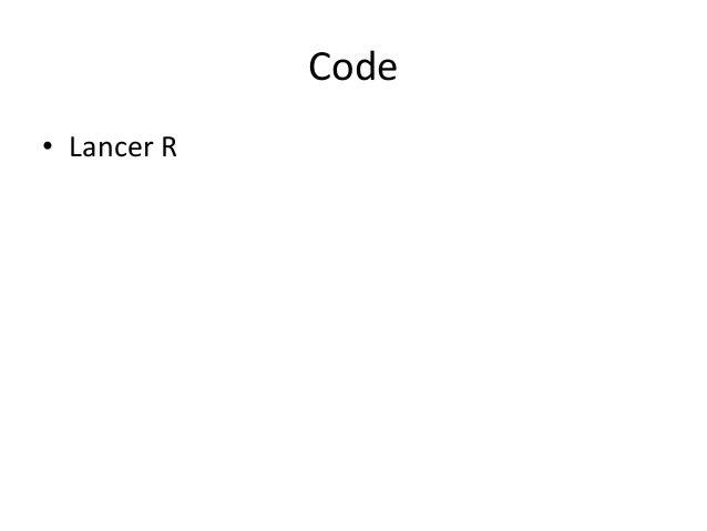 Code • Lancer R