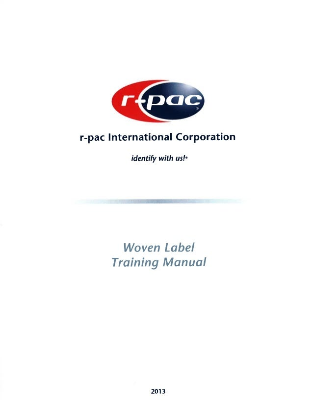 r pac international woven label manual