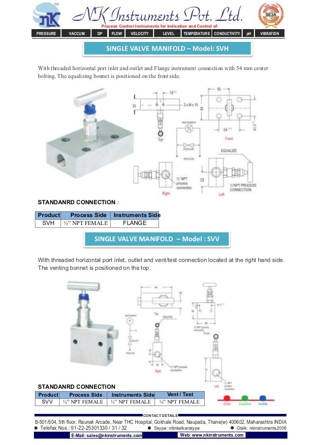 With threaded horizontal port inlet and outlet and Flange instrument connection with 54 mm center bolting. The equalizing ...