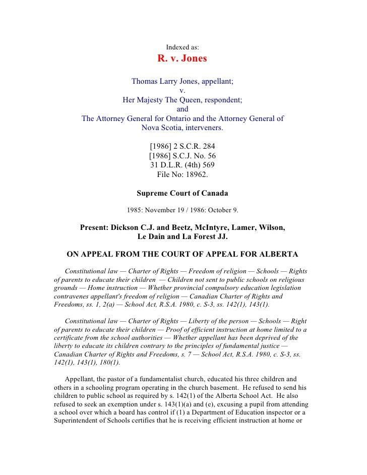 Indexed as:                                     R. v. Jones                         Thomas Larry Jones, appellant;        ...
